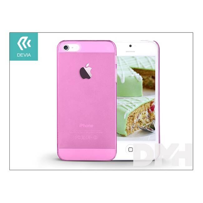Devia ST983857 Smart iPhone 5/5S/5SE Crystal rózsaszín hátlap