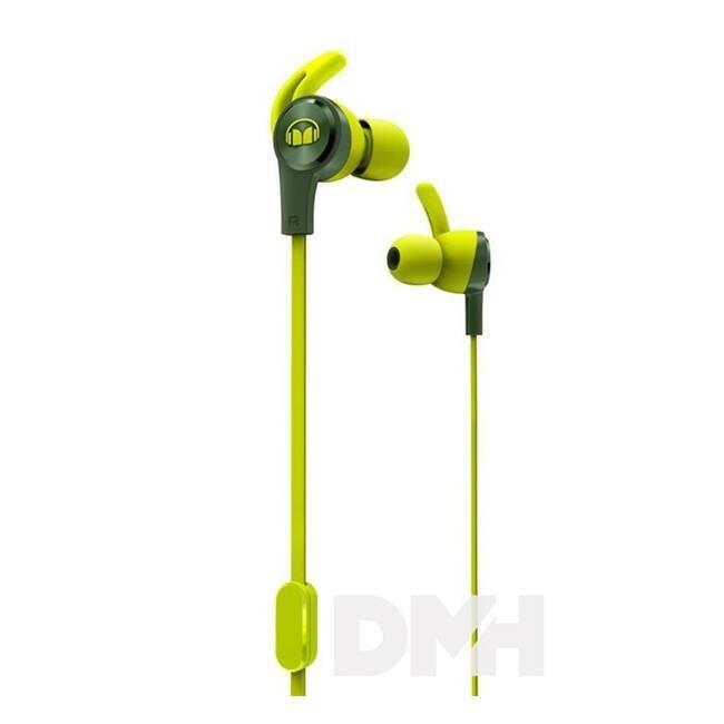 Monster ISPORT ACHIEVE zöld mikrofonos fülhallgató