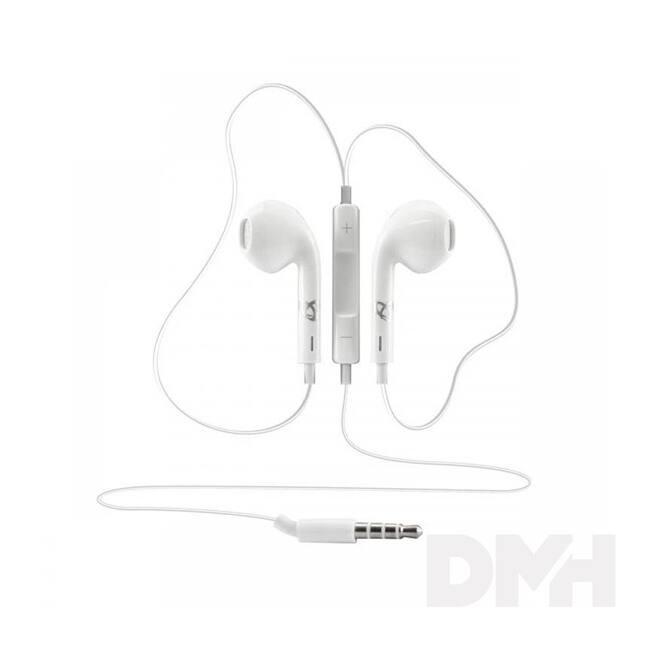 Sbox IEP-204W fehér mikrofonos fülhallgató