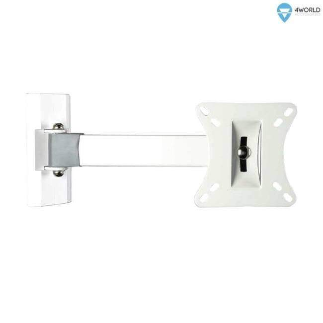 4World LCD 10-32''falitartó VESA 75/100 dönthető/forgatható 23cm kar max25kg WHT