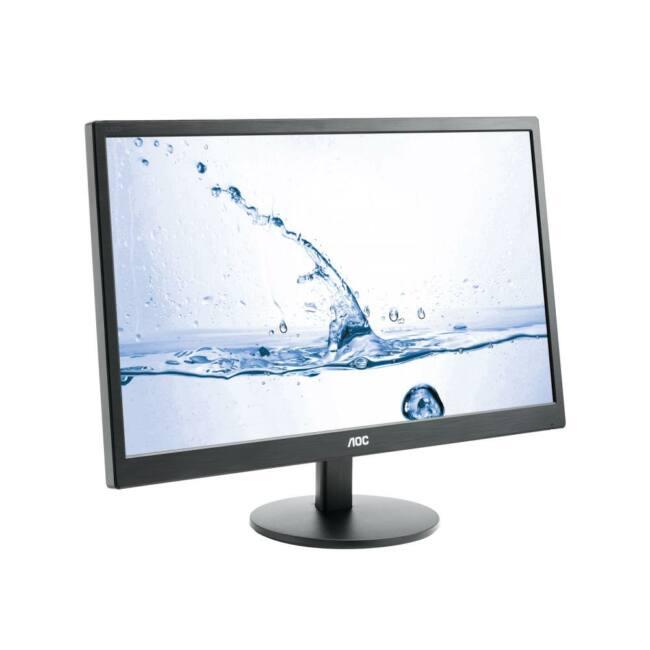 AOC monitor LED M2470SWH, 23.6'' MVA FHD, 5ms, D-Sub, 2xHDMI, fekete