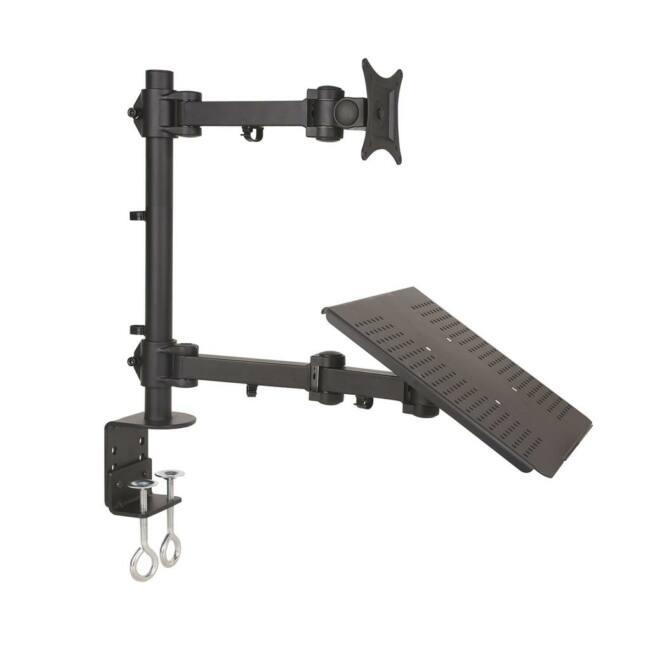 ART L-23 univerzális LCD/LED monitor tartó fekete 13-27''+asztali notebook tartó