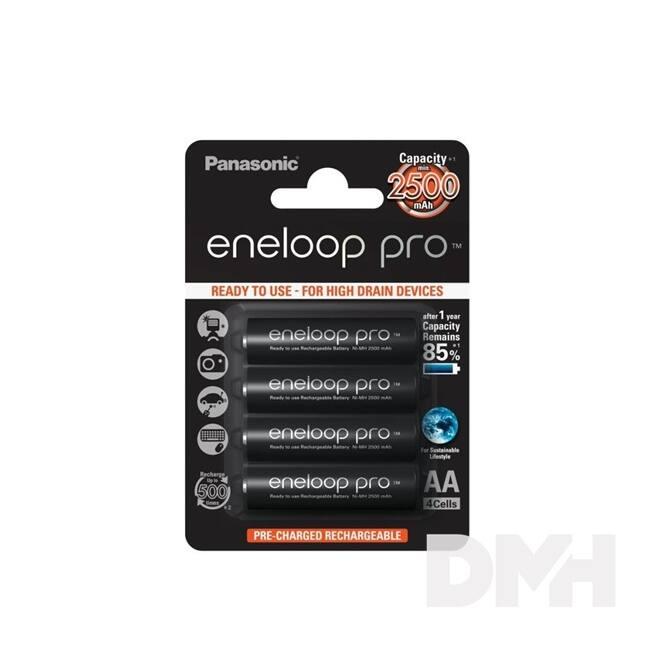 Panasonic Eneloop Pro AA 2500mAh ceruza akkumulátor 4db/bliszter