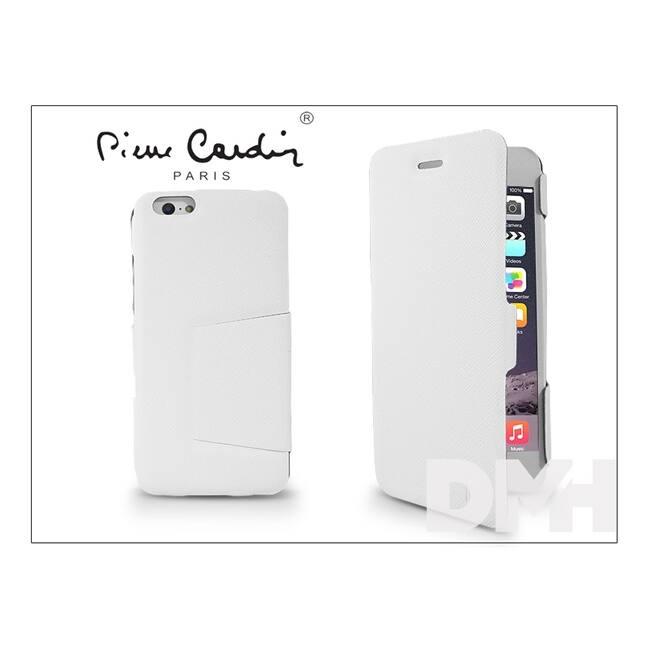 Pierre CardinFP01B-WTIP6+ DeLuxe Folio iPhone 6 fehér tok