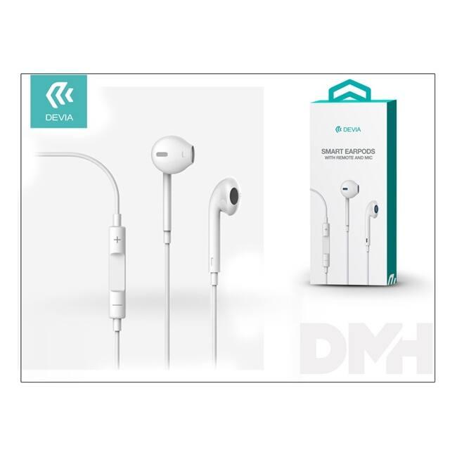 Devia ST987077 Smart fehér mikrofonos fülhallgató
