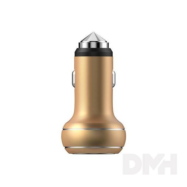 Devia ST995287 Thor 2.4A univerzális 2xUSB arany autós töltő