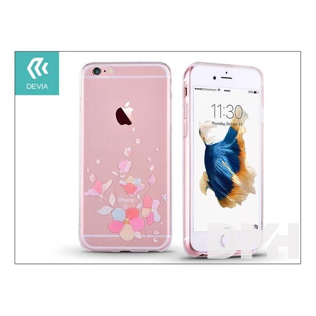 Devia ST979942 Crystal SOFT BELIS iPhone 6+/6S+ rózsaszín hátlap