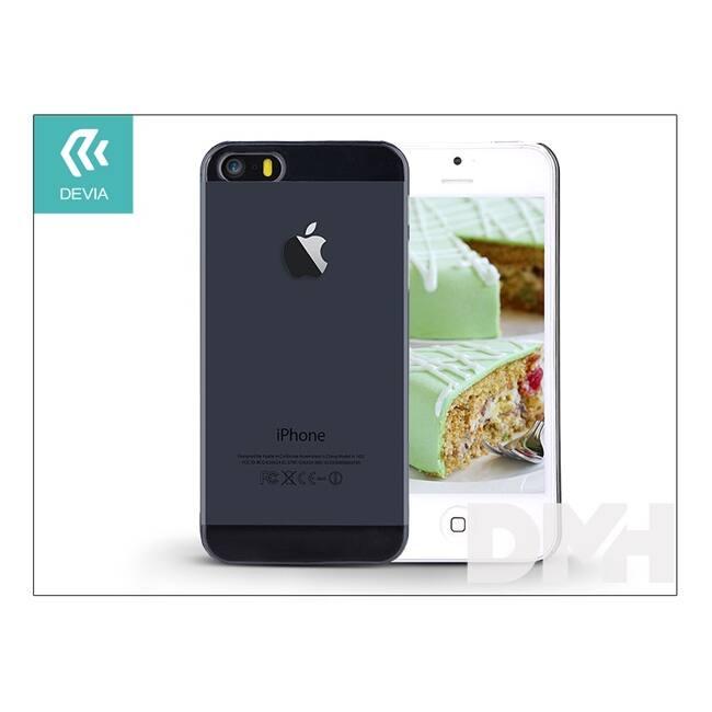 Devia ST983819 Smart iPhone 5/5S/5SE füst fekete hátlap