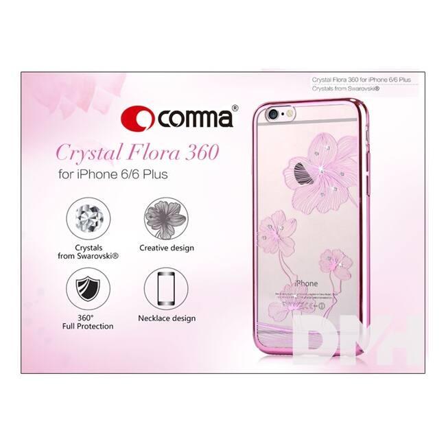 Comma ST975470 Crystal Flora 360 iPhone 6/6S rózsa rózsaszín hátlap