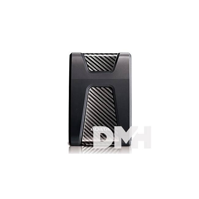 """ADATA AHD650 2,5"""" 2TB USB3.1 ütésálló fekete külső winchester"""