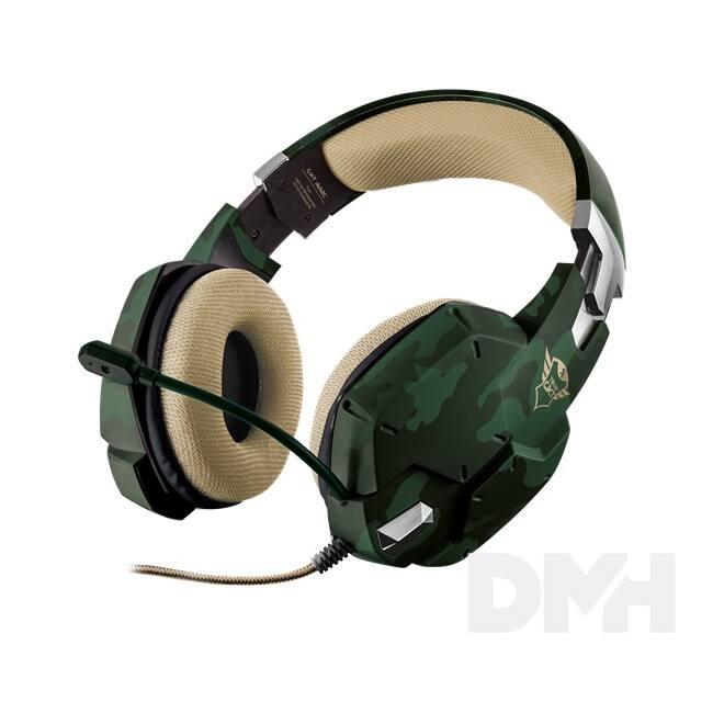 Trust GXT 322C Carus dzsungel álcafestéses gamer headset
