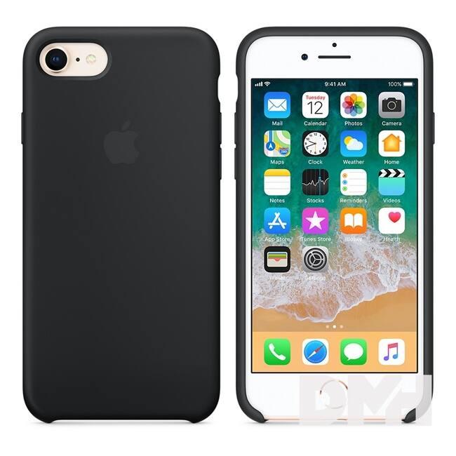 Apple iPhone 7/8 szilikontok fekete