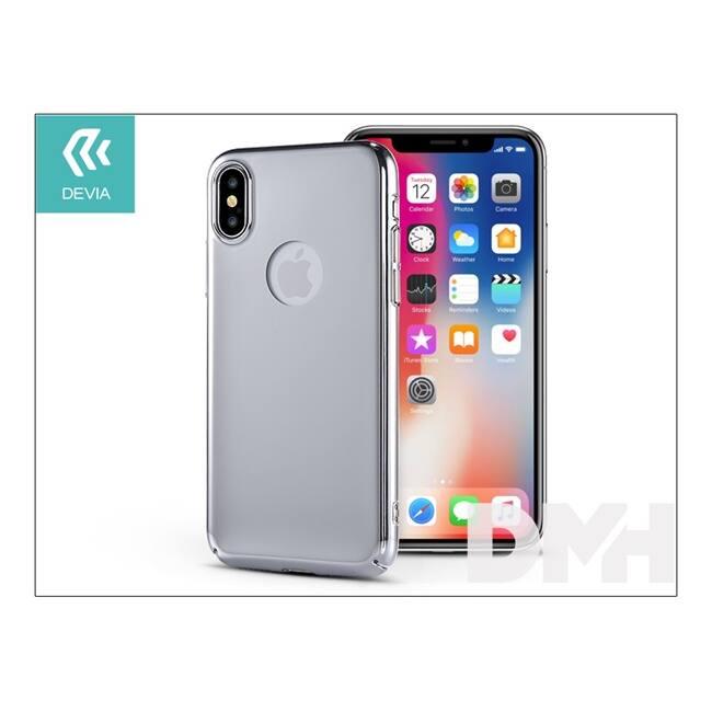 Devia ST307904 MIRROR iPhone X ezüst hátlap