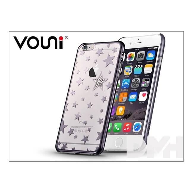 Vouni ST968984 Crystal STAR iPhone 6/6S fegyver fekete hátlap