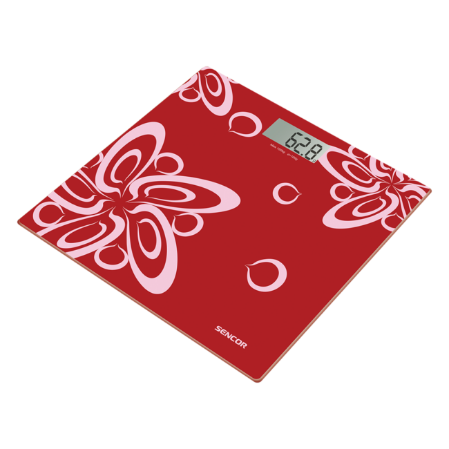 Bathroom scale Sencor SBS2507RD | red