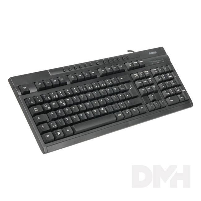 Hama AK-220 USB fekete HUN multimédiás billentyűzet