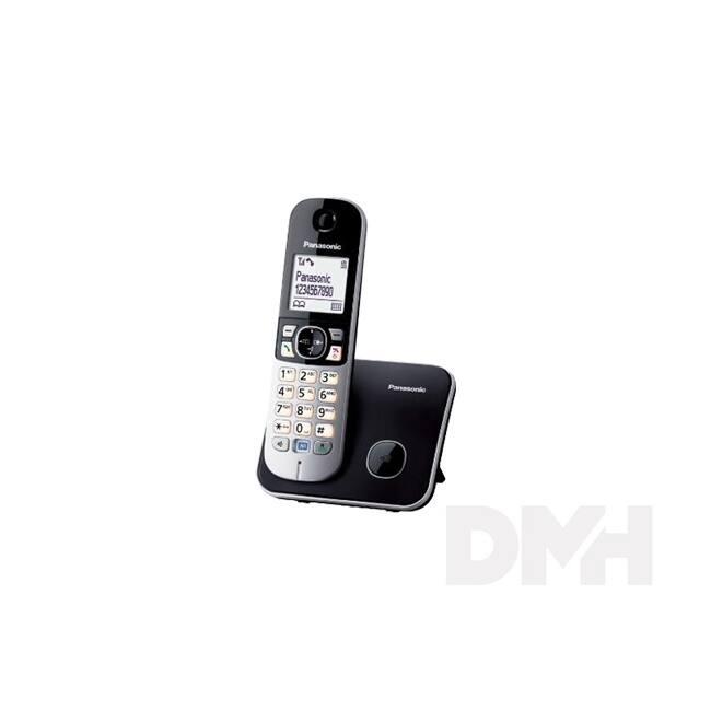 Panasonic KX-TG6811PDB fehér háttérvil. kihangosítható hívóazonosítós fekete dect telefon