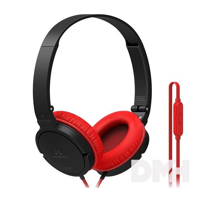 SoundMAGIC P11S On-Ear fekete-piros fejhallgató headset