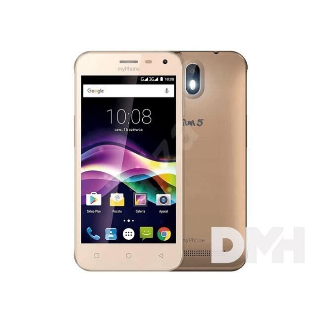 "myPhone Fun 5 5"" 3G 8GB Dual SIM arany okostelefon"