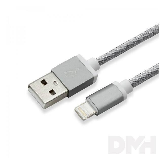 Sbox IPH7GR USB-iPhone 7 Lightning 1,5m szürke töltőkábel