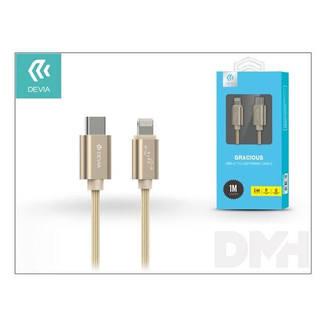 Devia ST003028 Gracious arany Type-C - Lightning kábel