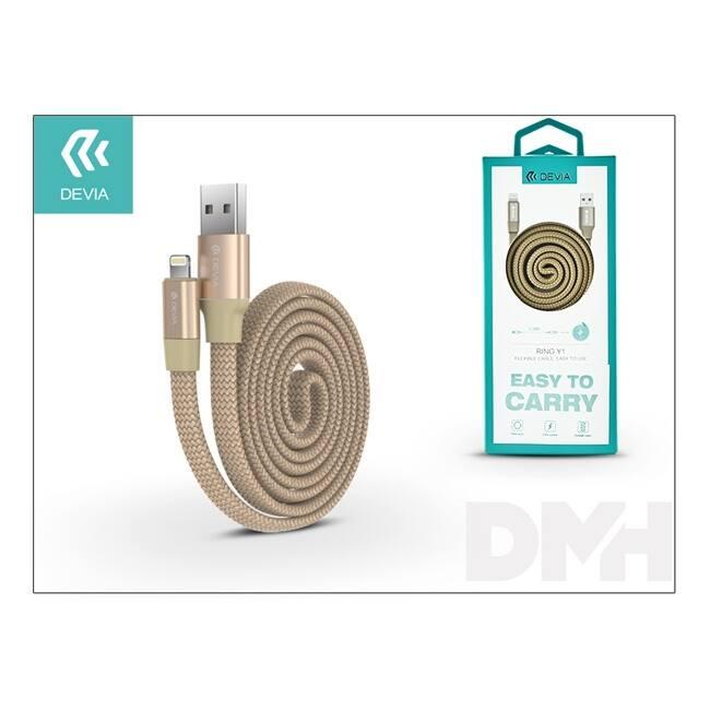Devia ST998165 RING Y1 arany Lightning töltő és adatkábel