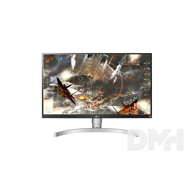 "LG 27"" 27UK650-W 4K IPS HDMI DisplayPort HA LED fehér monitor"
