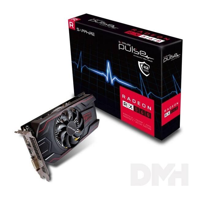 SAPPHIRE PULSE RADEON RX 560 4GB AMD 4GB GDDR5 128bit PCIe videokártya