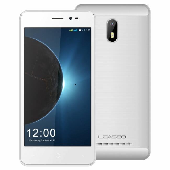 """LEAGOO Z6, Dual SIM smartphone, 5"""" FWVGA LCD, MT6580A quad core,Mali 400 OpenGL ES 2.0, 1GB+8GB, 2mp+0.3mp, android 6.0, 2000mAh, 1year warranty white"""