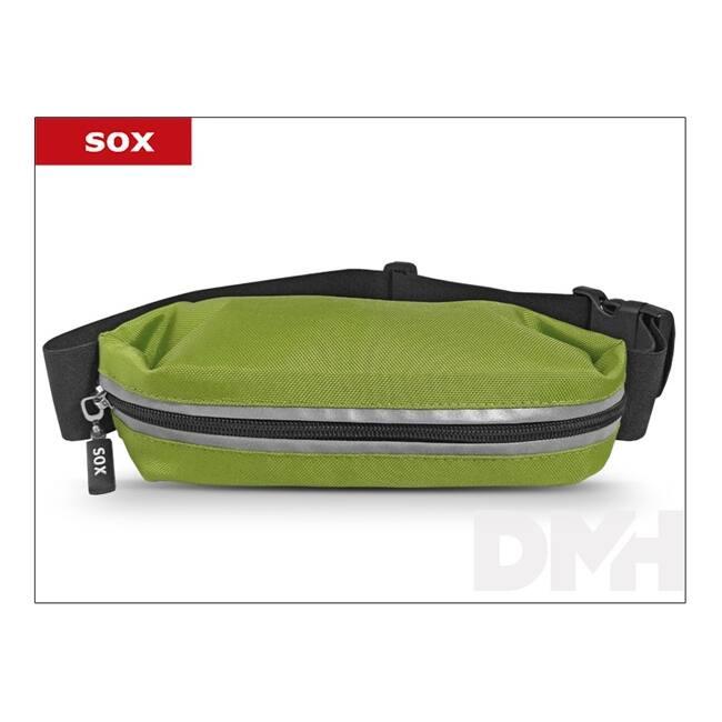 Sox univerzális zöld sport slim övtáska