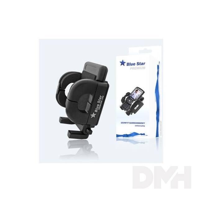 Blue Star 029603 szellőzőrácsra rögzíthető univerzális fekete autós telefon/gps tartó