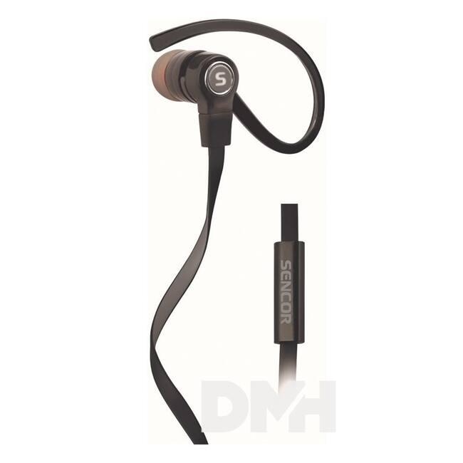 Sencor SEP 189 fekete mikrofonos fülhallgató