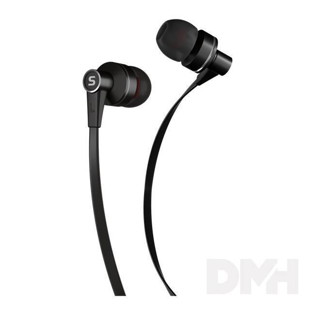 Sencor SEP 300 BLACK fekete mikrofonos fülhallgató