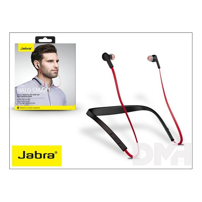 Jabra JB-110 HALO Smart Bluetooth piros headset