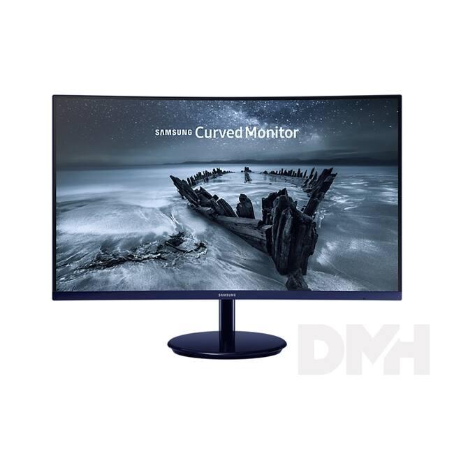 "Samsung 27"" C27H580FDU LED HDMI Display port ívelt fényes kék-fekete monitor"