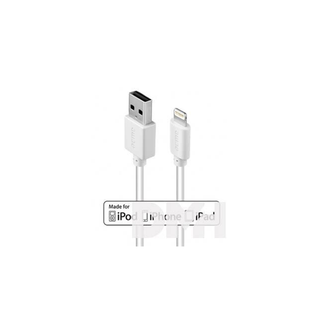 Acme CB1021W 1m fehér MFI Lighting - USB töltő és adatkábel