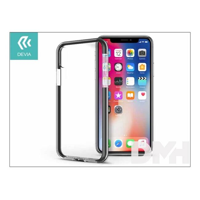 Devia ST307928 FASHION SHOCKPROOF iPhone X fekete hátlap