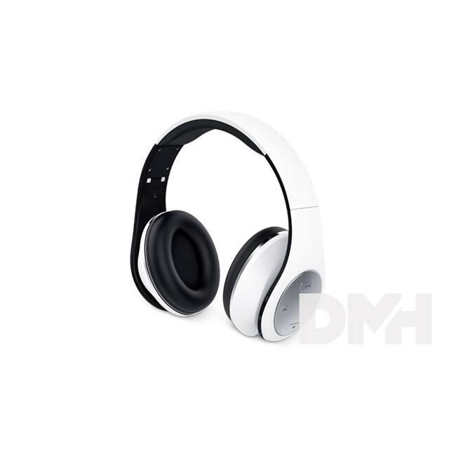 Genius HS-935BT összehajtható fehér mikrofonos bluetooth fejhallgató