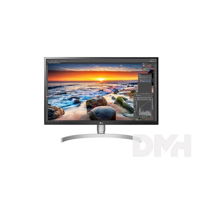"LG 27"" 27UK850-W 4K IPS HDMI DisplayPort HA Type-C  LED fehér monitor"