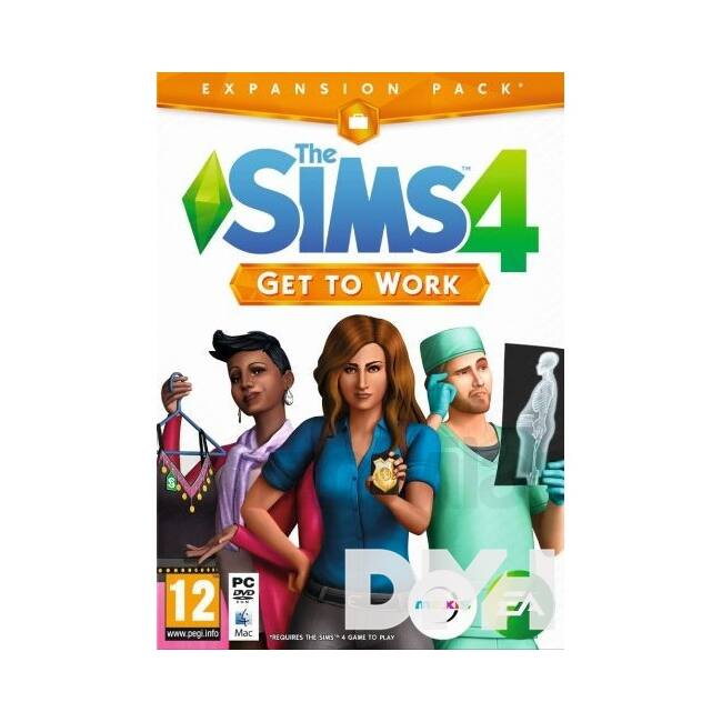 The SIMS 4 Get to Work PC játékszoftver