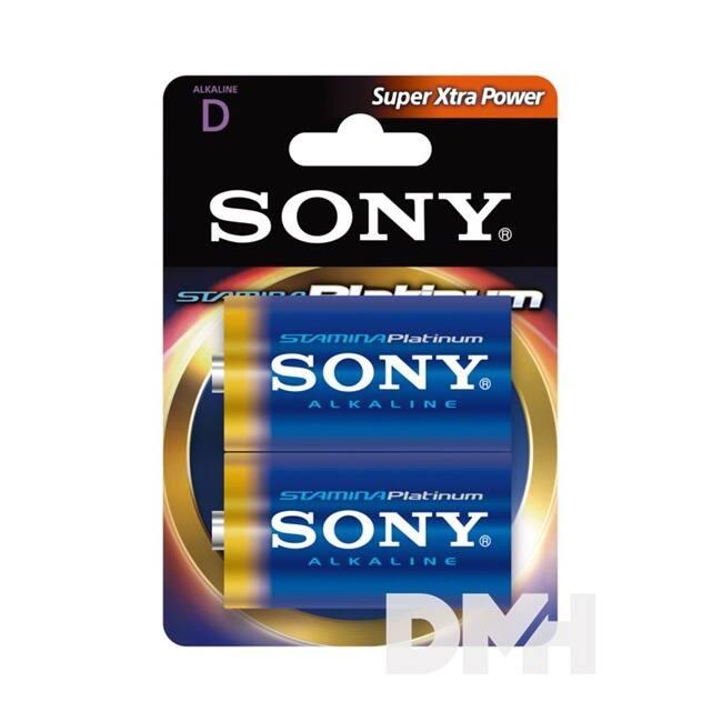 Sony Stamina Platinum 2db AM1 D alkáli elem (góliát)