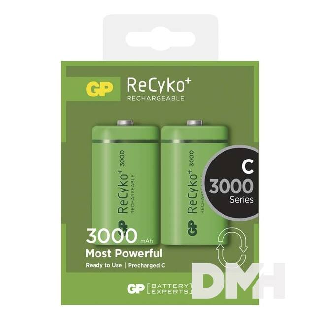 GP ReCyko+ LR14, C (baby) 3000mAh akku 2db/bliszter