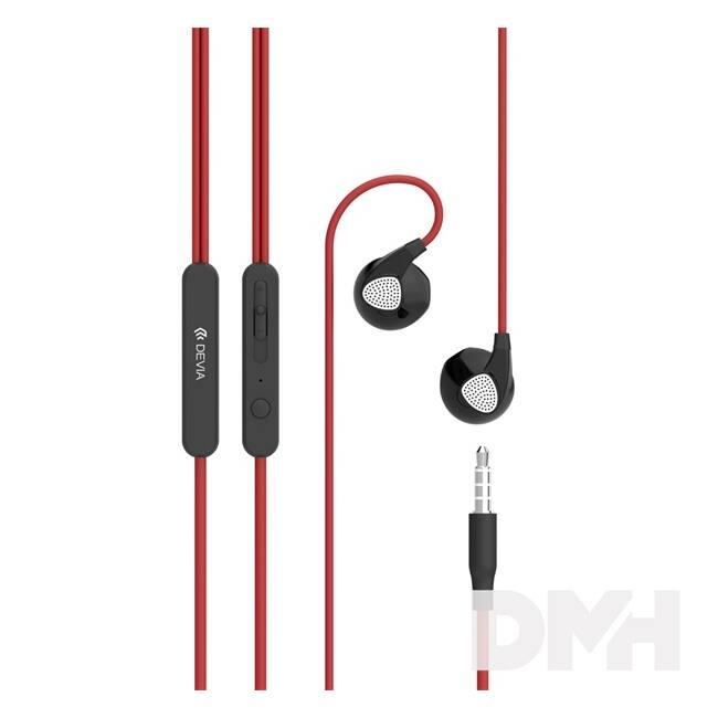 Devia ST987015 Ripple D2 piros fülhallgató headset