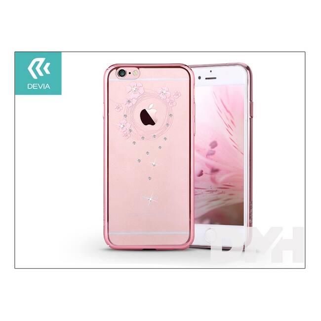 Devia ST976521 Crystal GARLAND iPhone 6S+ rózsaszín hátlap