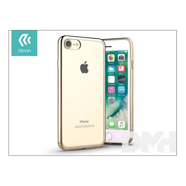Devia ST992644 GLITTER SOFT iPhone 7 pezsgőarany hátlap