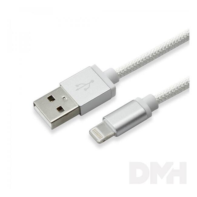 Sbox IPH7S USB-iPhone 7 Lightning 1,5m ezüst töltőkábel