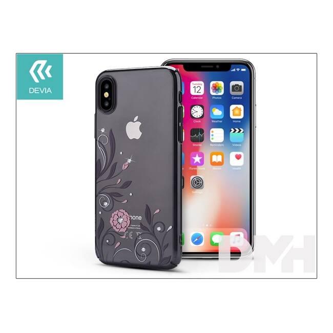 Devia ST305528 Crystal PETUNIA iPhone X fegyver fekete hátlap