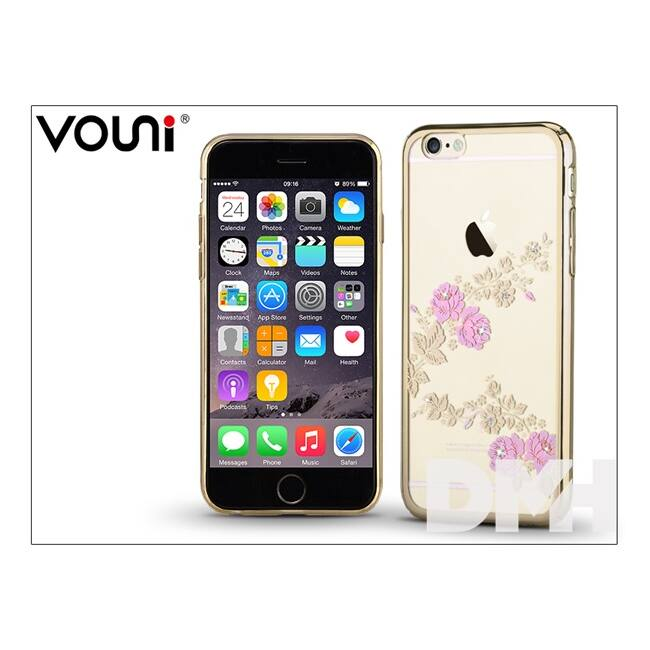 Vouni ST977153 CRYSTAL FRAGRANT iPhone 6/6S pezsgőarany hátlap