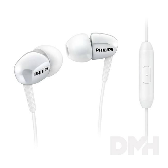 Philips SHE3905WT/00 fehér mikrofonos fülhallgató