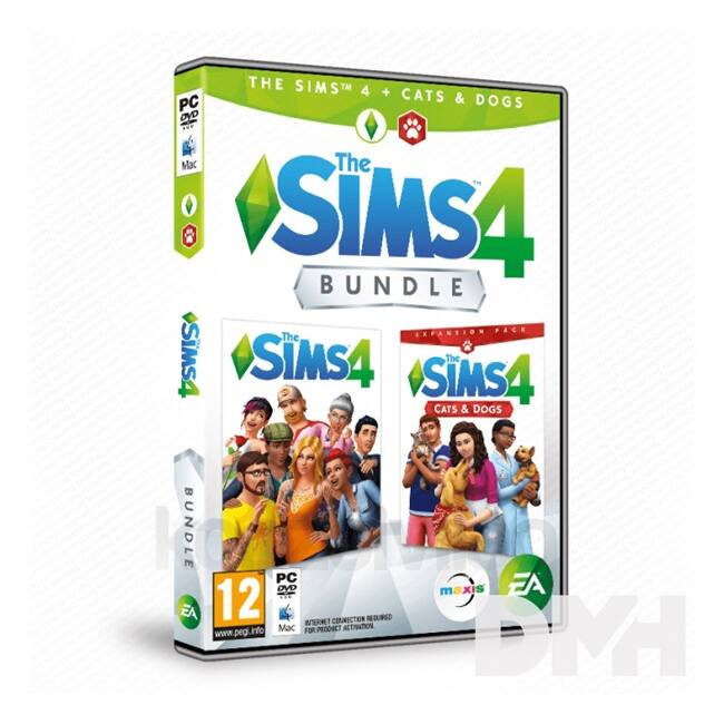 The SIMS 4 + Cats & Dogs Bundle PC HU/RO játékszoftver